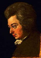 Mozart painted by Joseph Lange